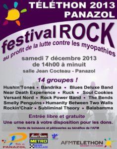 Festival Rock pour le Téléthon 2013