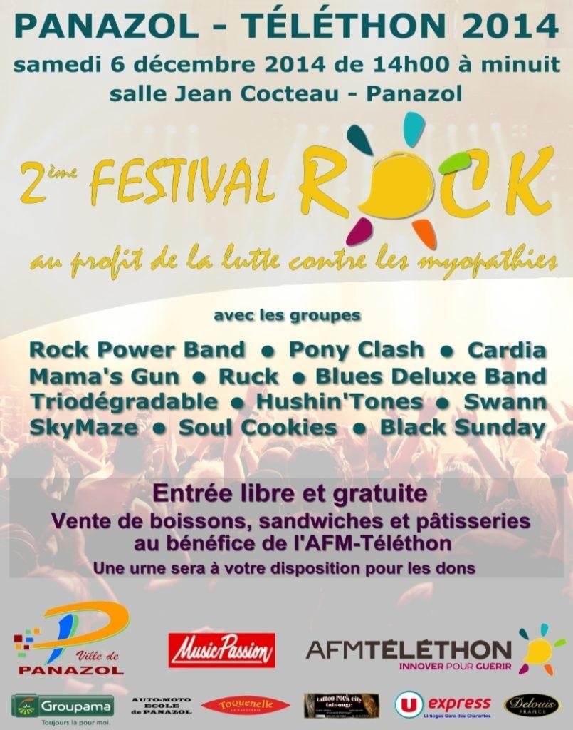 Festival Rock pour le Téléthon 2014