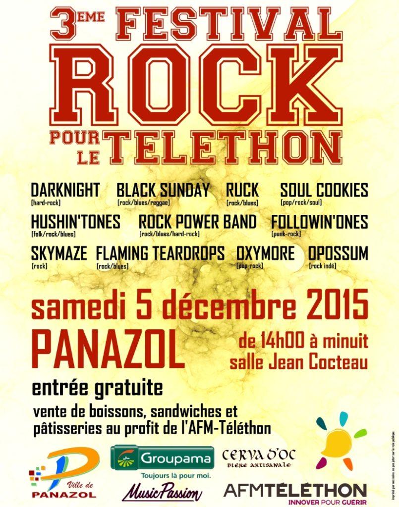 Festival Rock pour le Téléthon 2015