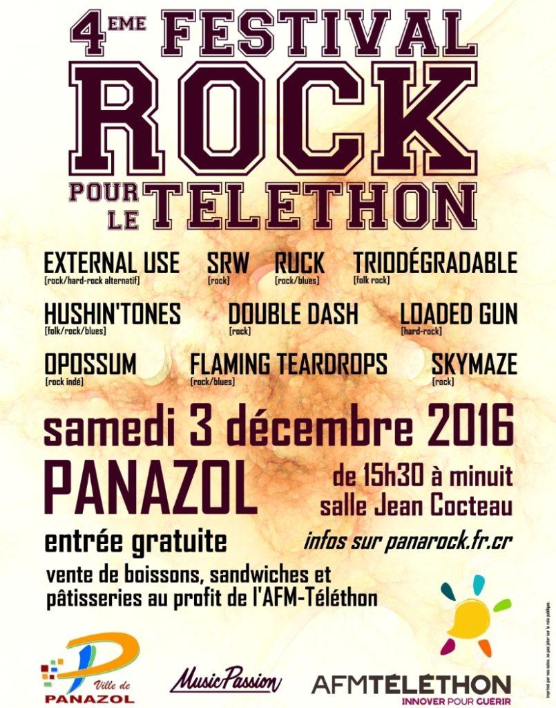 Festival Rock pour le Téléthon 2016